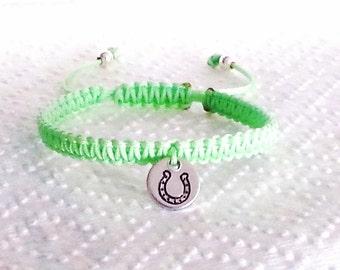 1 x Personalized Friendship Horse Shoe Good Luck Bracelet