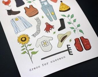 Art Print - Dress For Success