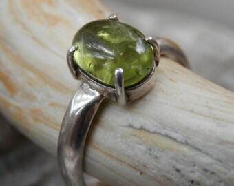 Peridot & Silver Ring  7