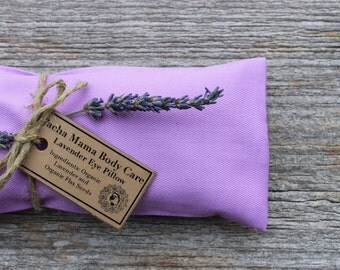 Lavender Eye Pillow • Light Purple  • Large  • Yoga • Calm  • Eye Cover • Meditation • Organic Body Care