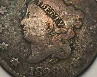 1828 Coronet Liberty Head Large Cent - Very old