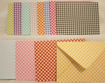 Handmade Envelopes - All Checkered