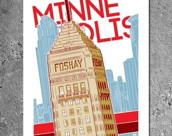 Minneapolis Foshay Screen Printed Poster