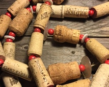 Unique wine cork garland - 8 feet