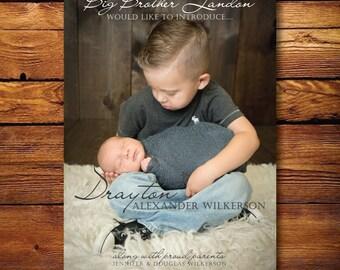 Baby Photo Birth Announcement