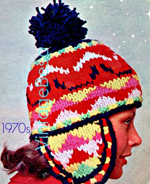 Knitting Pattern Peruvian Hat : Instant Download Hat KNITTING Pattern Vintage Fair by ...