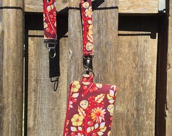 Tula Pink Wristlet/Key Fob