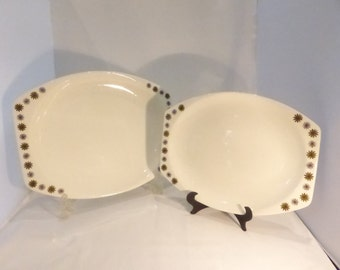 Meakin Allegro pair of serving platters - original from the 1960's