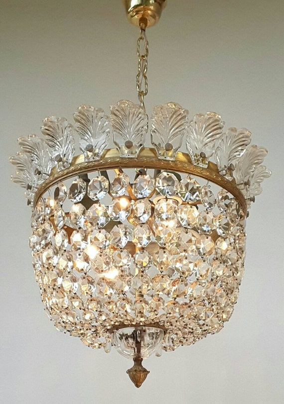 A Baccarat Crystal Chandelier Pendantceiling Fixture Very