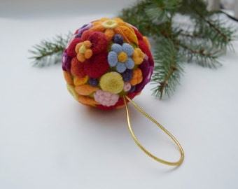 Christmas Gift Needle Felted Wool Ornament Holiday Decor Home Decoration