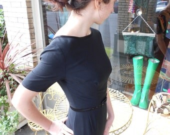 1950's Classic, Audrey Hepburn Little Black Dress~XSM