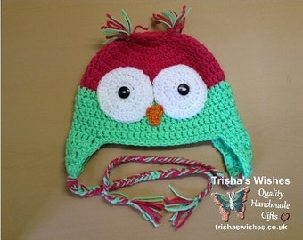 Owl Hat >> Beanie >>  Crochet >> Handmade >> Winter Hat >> Children's >> Fashionable >> Warm