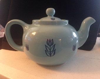 Light Blue Vintage Ceramic Tea Pot