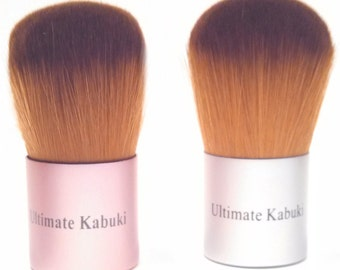 Kabuki Brush for Mineral Makeup Application, Vegan, Pink or Silver Handles, AMAZINGLY Soft Bristles, Full Coverage, Foundation Brush