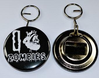 I love zombies bottle opener keyring. Gift idea, horror gifts, horror bottle opener