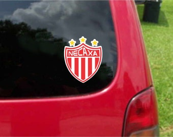 2 Pieces Necaxa Rayos Futbol Mexico  Decals Stickers Full Color/Weather Proof. U.S.A Free Shipping