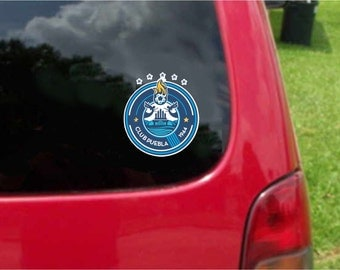 2 Pieces Puebla La Franja  Futbol Mexico  Decals Stickers Full Color/Weather Proof. U.S.A Free Shipping