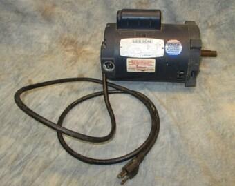 Leeson Electric Motor RPM 3450 Model A4C34DC21A 115/208-230 V Vintage