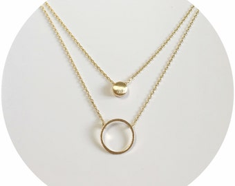 Circle/Dot Layering Necklace