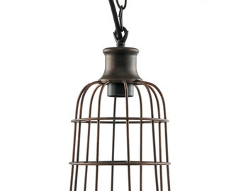 Iron Rust Open Cage Antique Pendant Fixture