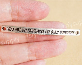 You are my sunshine charm pendant,Antique Silver Infinity,DIY Supplies 45mm*4mm*2mm
