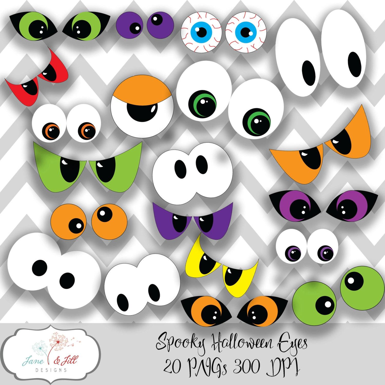 Spooky Halloween Eyes Clip art 20 PNGs 300 dpi INSTANT ...
