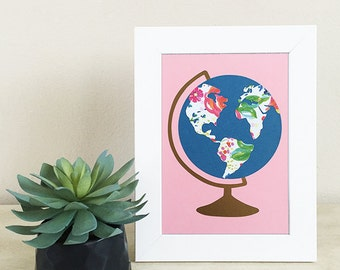 "5x7"" Papercut Globe"