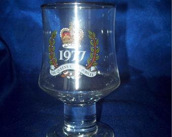 Queen Elizabeth Siver Jubilee Glass Goblet