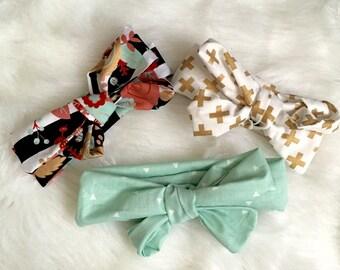 Set of 3 Big Bow Headbands