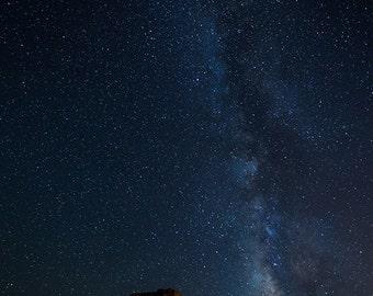 Milky Way over the Utah Desert | Night Skies, Desert, Utah, Vertical, Landscape, Fine Art, stars