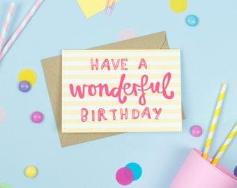 Wonderful Birthday Card