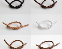 4mm square knot leather strap. Leather,Bracelet,Anklet,gift,cute supply,Simple,supplies,Unique strap, Wish,special,