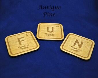 F-U-N Element Coaster Set (Set of 3)