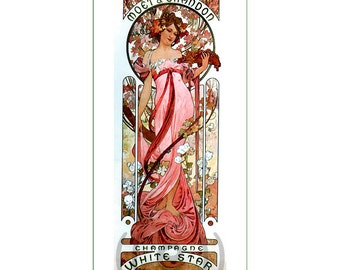 fabric panel - painting by Alphonse Mucha (9)
