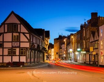 Tewkesbury Light Trails - Gloucestershire - United Kingdom - Landscape - Fine Art Print