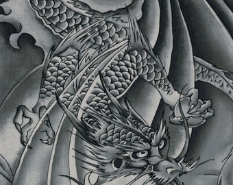 Grey Dragons - Orimono IV Collection by Kona Bay Fabrics - 100% Cotton Fabric