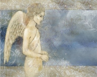 Angel Digital Download Printable Art Commercial Use Scrapbooking Printables