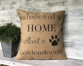 GOLDENDOODLE THROW PILLOW,New Puppy Pillow,Goldendoodle Decorating,Goldendoodle Love,Goldendoodle Gift
