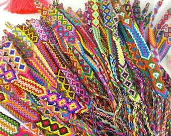 100 pcs Wholesale Woven friendship bracelet.