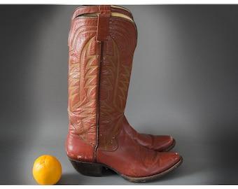 70's Vintage Ladies Cowboy Boots, Cuban Heel,Vintage Rockabilly Style