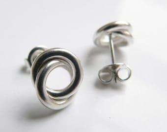 Earrings silver node