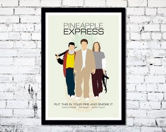 Pineapple Express // Minimalist Movie Poster // Unique A4 / A3 Art Print