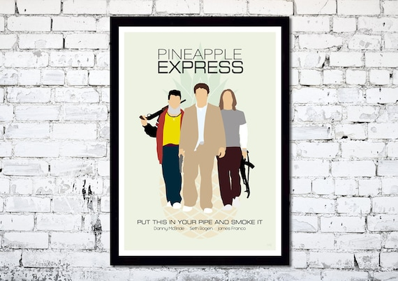 Pineapple Express // Minimalist Movie Poster // Unique A4 / A3 Art Print