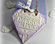 Gifts for friends,  Friendship quote best gift, Hanging heart decoration, If friends were flowers sentiment, Affordable gifts