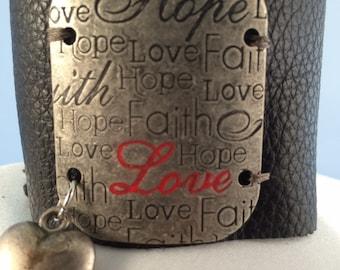 Hope, Faith, & Love Bracelet