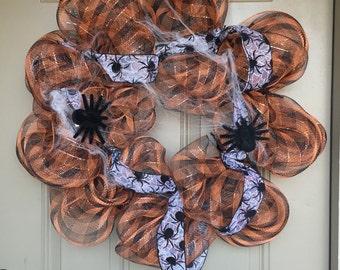 Decomesh Halloween Spider Wreath