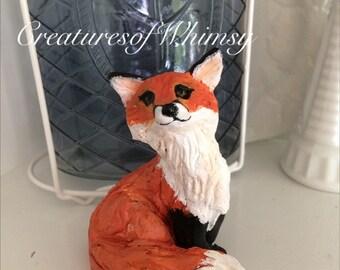Lovely sitting Fox desk pet