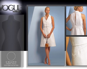 Vogue Chado ralph rucci American Designer Pattern V1048 Misses Dress