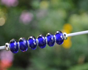 Artificial Iolite - gemstone charmbead
