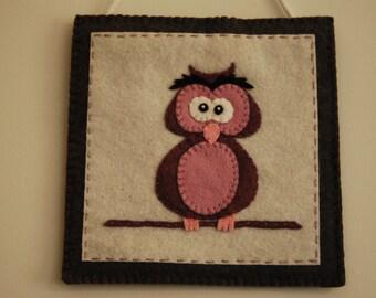 Felt Owl Hanging, Felt Owl Decoration, Owl Decoration, Felt Owl